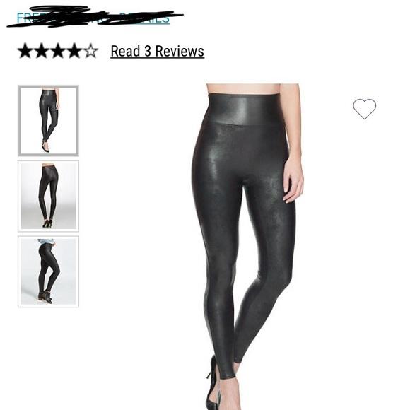 651949a38d845 SPANX Pants | Plus Size Readytowow Faux Leather Leggings | Poshmark